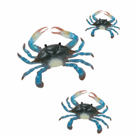 Blue Crab Cove Wall Art - Set of 3
