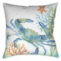 Blue Crab Crawl 20 x 20 Outdoor Pillow