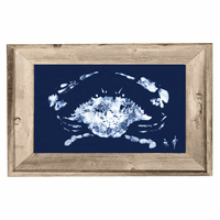Blue Crab Framed Wall Art