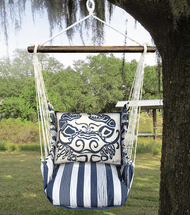 Blue Crab Marina Stripe Swing Set