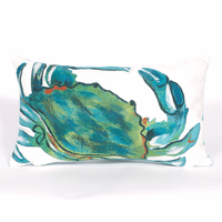 Blue Crab Sea Indoor/Outdoor Rectangle Pillow