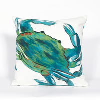 Blue Crab Sea Indoor/Outdoor Square Pillow