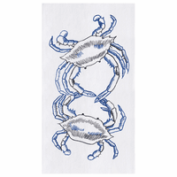 Blue Crabs Flour Sack Kitchen Towels - Set of 12
