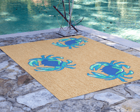 Blue Crabs Indoor/Outdoor Rug Collection
