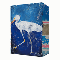 Blue Egret 1 Aluminum Wall Art