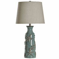 Blue Bay Shells Ceramic Table Lamp