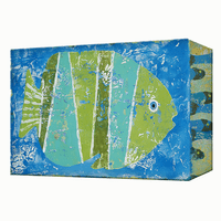 Blue Fish Aluminum Box Wall Art