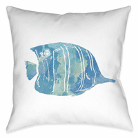 Blue Fish I 18 x 18 Outdoor Pillow