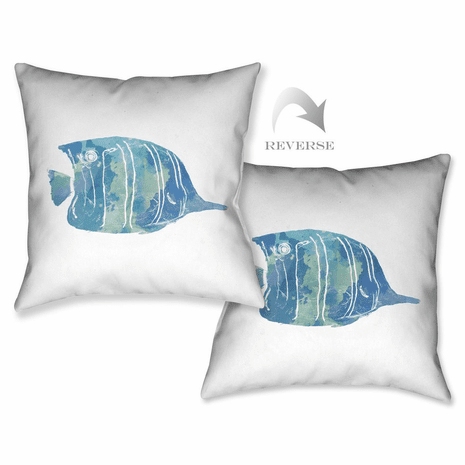 Blue Fish I Pillow