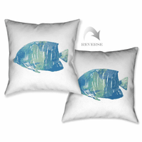 Blue Fish II Pillow