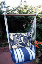 Blue Fish Marina Stripe Swing Set