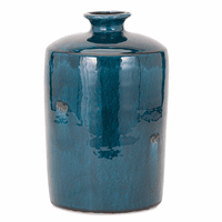 Blue Glazed Vase - Medium