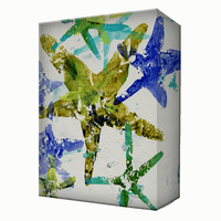 Blue & Green Starfish Aluminum Wall Art