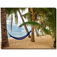 Blue Hammock Indoor/Outdoor Canvas Art