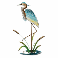 Blue Heron & Cattails Wall Art