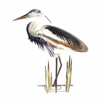 Blue Heron Head Down Wall Art - Left Facing