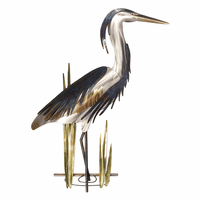 Blue Heron Head Up Wall Art - Right Facing