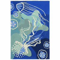 Blue Jellyfish Indoor/Outdoor Rug Collection