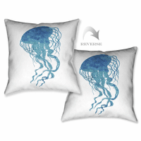 Blue Jellyfish Pillow