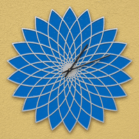 Blue Lotus Indoor/Outdoor Wall Clock