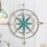 Blue Nautical Compass Wall Art