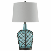 Blue Netted Jug Table Lamp