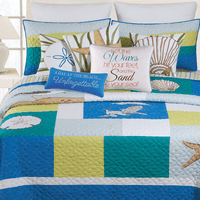 Blue Oasis Quilt Bedding Collection