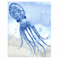 Blue Octopus Canvas Art
