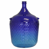 Blue Ombre Recycled Glass Jug
