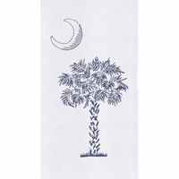 Blue Palmetto Flour Sack Towels - Set of 6