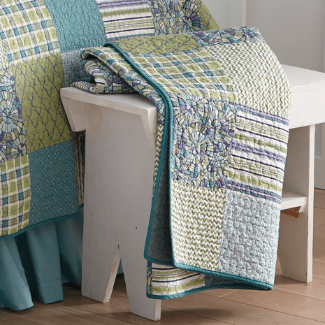 Blue Patch Paradise Throw