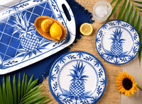 Blue Pineapple Dinnerware Collection