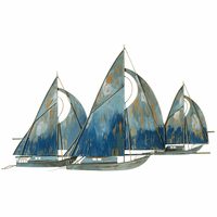 Blue Sailing Ships Wall Décor