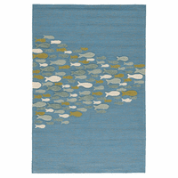 Blue School of Fish Indoor/Outdoor Rug Collection