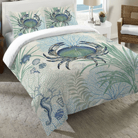 Blue Sea Life Duvet Cover - Queen
