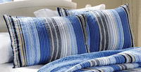 Blue Sea Stripes Standard Sham