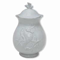Blue Seahorse Canister - 8 Inch