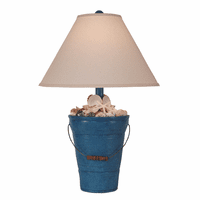 Blue Shell Collector Table Lamp
