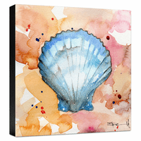 Blue Shell Gallery Wrapped Canvas