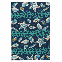 Blue Shell Surf Indoor/Outdoor Rug Collection
