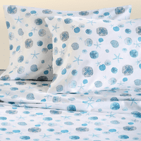 Blue Shells Sheet Set - Queen