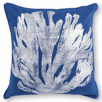 Blue & Silver Coral Pillow