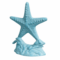 Blue Starfish Cast Iron Door Stopper