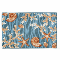 Blue Wave Shells Bath Mat - 30 x 46 - CLEARANCE