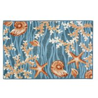Blue Wave Shells Bath Mats