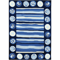 Blue Wave Shells Indoor/Outdoor Rug Collection