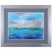 Blue Waves I Framed Art
