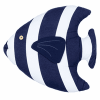 Blue & White Island Fish Pillow