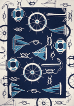Blue & White Nautical Rug Collection