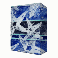 Blue & White Starfish Aluminum Wall Art